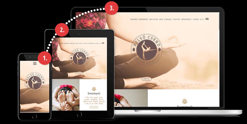 Mobile-first weboldal tervezés